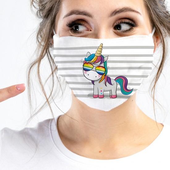 Mund-Nasen-Masken - Einhorn...