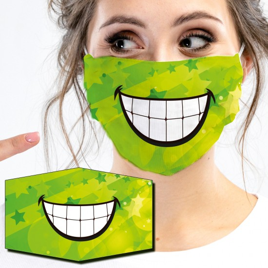 Mouth-Nose-masks-GREEN SMILE