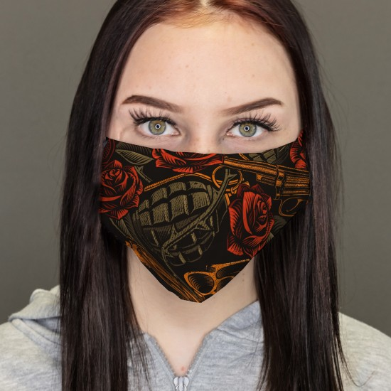 Mund-Noses-Masks-Weapons,...