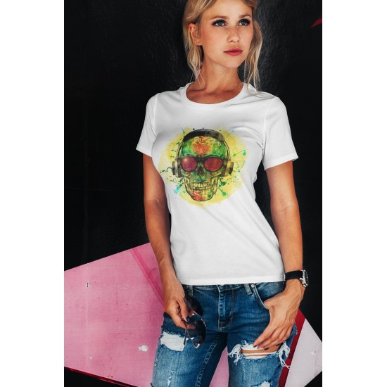 SKULL DJ - WOMEN - WHITE -...