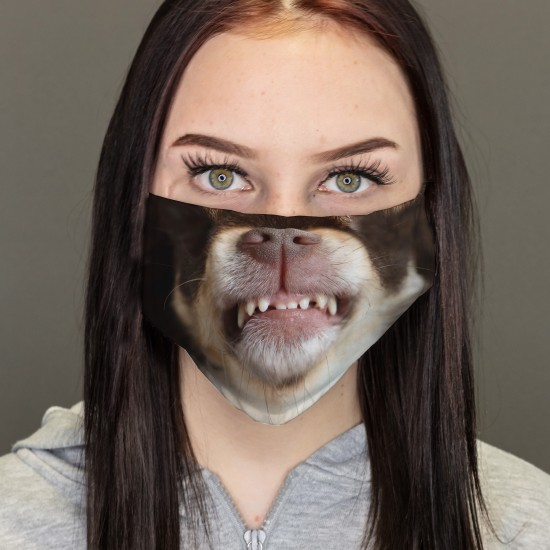 Mund-Nasen-Masken - Böser Hund