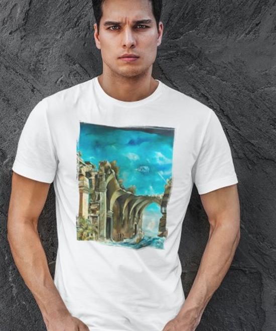 """Kunst am Shirt - die """"Phantastische Welt"""" von Künstler und Maler Peter Klitsch"""
